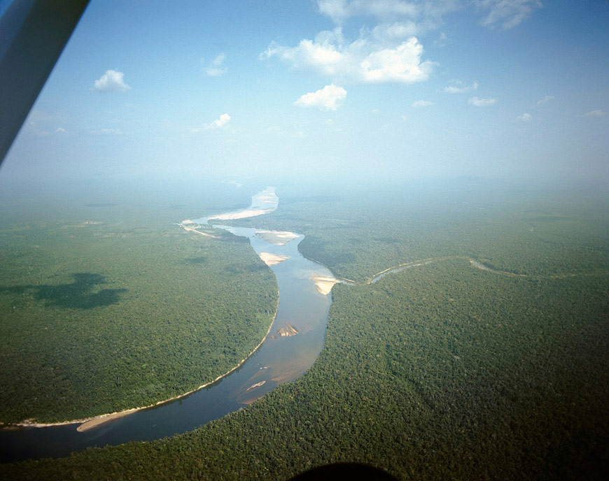 Union of the Casiquiare estuary with the Orinoco at Tama-Tama. It was explore in 1880 by Alexander Von Humboldt.